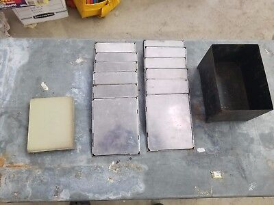 Lot of 12) Oddity Numbered Metal Glass Plate / Glass Negative Processing Holder?
