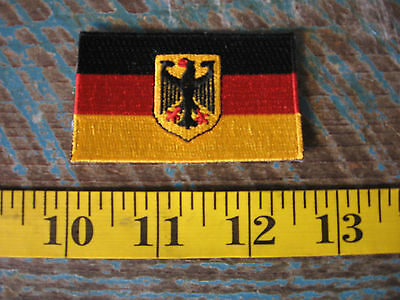 Small German Flag Patch Bmw Vw Audi Porsche Mercedes Benz Amg 911 356 Racing Gt