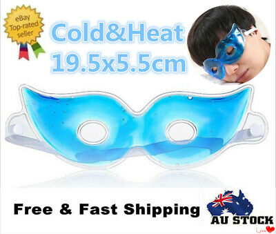 Gel Ice Eye Care Mask Hot Cold Cooling Stress Relaxing Relief Sleeping Head Calm