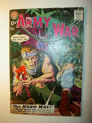 Our Army at War #88 FR/GD, 1959, DC comics, 1st Sgt. Rock cover, Kubert, BV=$55