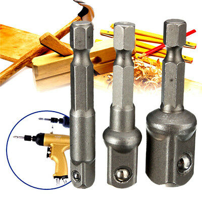 """New Socket Adapter Set Hex Shank to 1/4"""",3/8"""",1/2"""" Impact Driver/Drill Ready"""