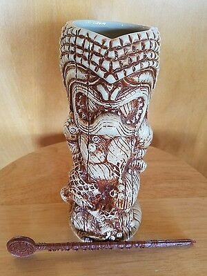 SMUGGLER'S COVE TIKI mug (red version) including swizzle