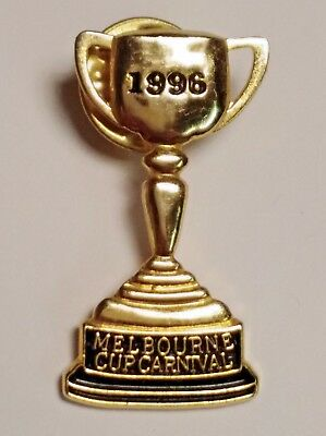 1996 Melbourne Cup Horse Racing Carnival Pin / Badge
