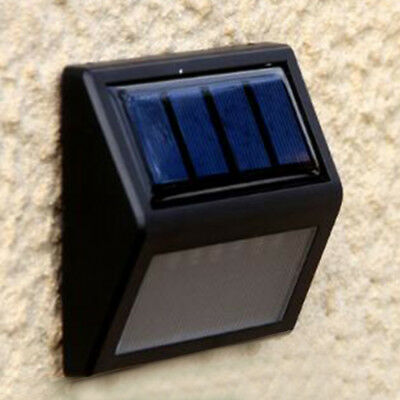 6 LED Solar Powered PIR Motion Sensor Wall Light Outdoor Waterproof Garden Lamp