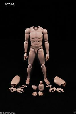 1/6 Scale MX02-A Male Muscle Body Caucasian Skin Tone Action Figure In Stock