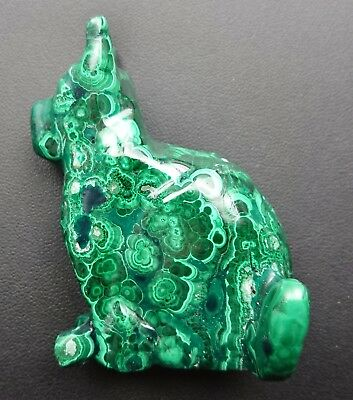 Malachite 124 grammes Chien - Natural dog Malachite