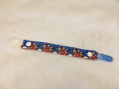 Pacifier soother dummy clip holder string strap chain clip mam DISNEY CHRISTMAS