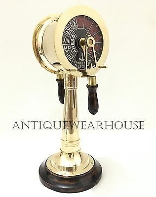 Nautical Maritime Astrolabe Solid Brass Ship Engine Room Sound Bell Telegraph