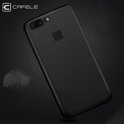 CAFELE Shockproof Slim Matte Soft Silicone Black Case Cover For OnePlus 5T NEW