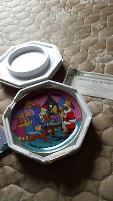 Caroling with the Simpsons, Christmas collector's plate, mint condition