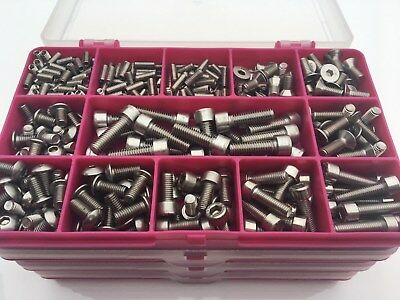 370 Bolts For Bikes Bicycle Stainless Steel A2 Assorted Allen Screws