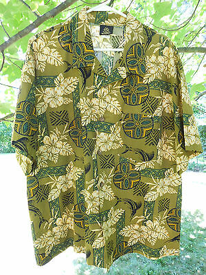 Toucan Dance Swordfish Tiki Hybiscus Mens Hawaiian Shirt Size XXL Made in USA