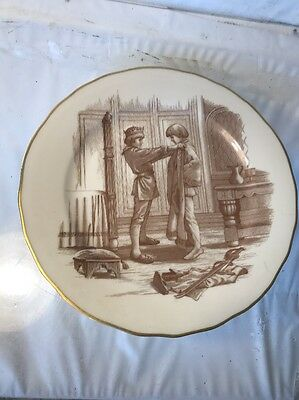"""Franklin Porcelain Plate """"The Official Mark Twain Plate Collection"""" """"Trading Liv"""