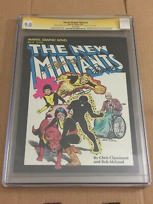 Marvel Graphic Novel #4 1st Print CGC 9.0 3x Signed Claremont McLeod New Mutants