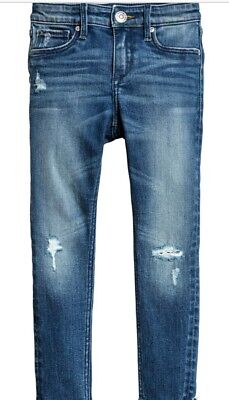 H&M Skinny Jeans Worn Look Used Gr. 128