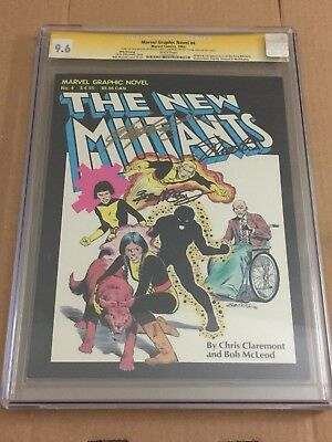 Marvel Graphic Novel #4 5th Print CGC 9.0 3x Signed Claremont McLeod New Mutants