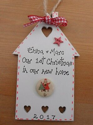 Personalised First Christmas in  new home christmas tree house bauble