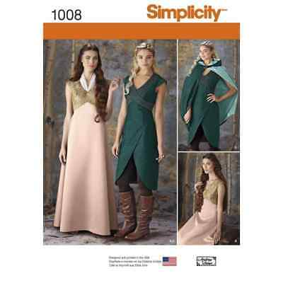 Simplicity Sewing Pattern 1008 Misses Fantasy Costumes
