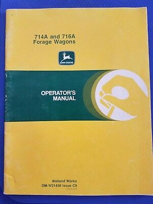 John Deere - 714 and 716 Forage Wagons Operator's Manual  -  OM-W21456 Issue C9