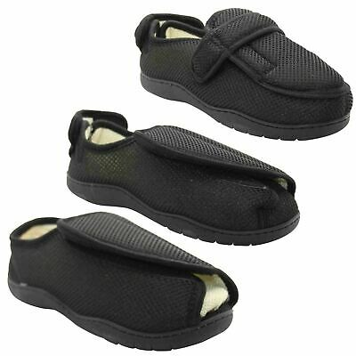 Mens Womens Diabetic Slippers Orthopedic Memory Foam Wide EASY Fitting Shoes