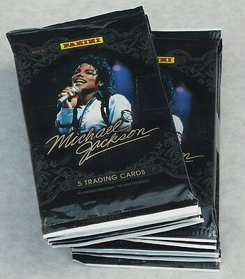 Panini 2011 Michael Jackson Trading Cards Lot Of 16 Packs New & Sealed