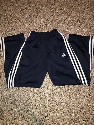 Adidas Navy Blue Sweatpants Youth Medium Casual Workout Pants (F)
