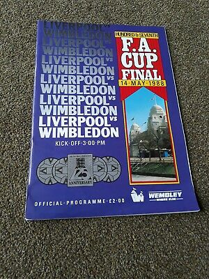 1988 F.A.Cup Final Official Programme. Liverpool v Wimbledon