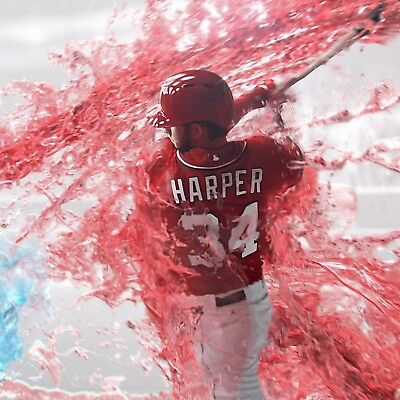 Bryce Harper poster wall art home decoration photo print 24x24 inches