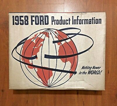 1958 Ford Motor Co. Sales Training Records with Box