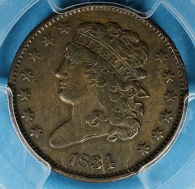 1834 Classic Head Half Cent PCGS XF40- Nice Patina, Surfaces, Eye Appeal