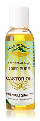 Nature Shine 100% Cold Pressed Pure Castor Oil for Hair, Skin, Nails, Body 100ml