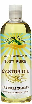 Nature Shine 100% Cold Pressed Pure Castor Oil for Hair, Skin, Nails, Body 500ml