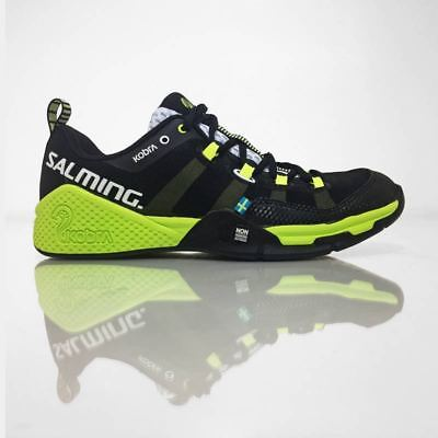 Salming Kobra Men's Indoor Court Squash Shoes - Black Yellow