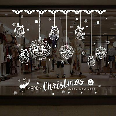 Christmas Balls Window Glass Wall Sticker Removable DIY Shop Xmas Decals