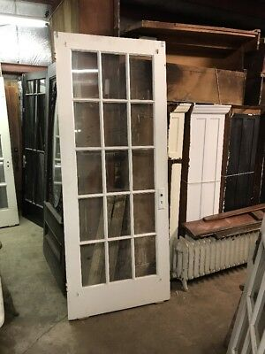 CMP antique 15 light flat glass French door 33.5 x 83.75