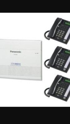 Panasonic New KX-TA824 +3 New KX-T7730 Black Phones