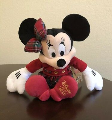Genuine Disney Minnie Mouse Holiday Plush - Disney Store 2016 Edition