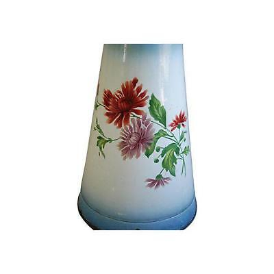 Cute 1920s Vintage French Hand-Painted Enameled Pitcher