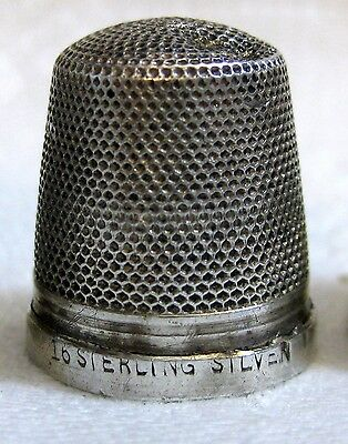 vintage silver THIMBLE - Henry Griffith, embroidery, needlework, british