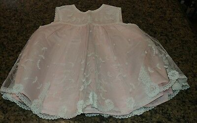 Antique lace baby dress Brussels Princess Lace handmade NOS