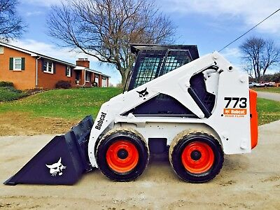 Bobcat 773 Skid Steer Wheel Loader Full Cab Heat Bob Cat Diesel Great Snow Plow