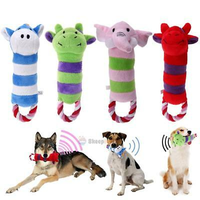 Pet Dog Puppy Chew Toys Cute Animal Shaped Squeaker Squeaky Sound Plush Play Toy