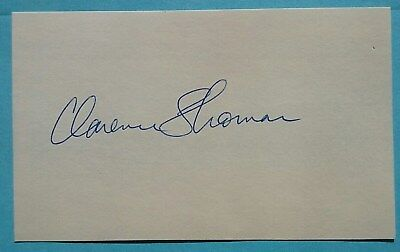 Clarence Thomas signed autographed 3X5 card