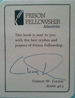 Robert Colson (Watergate) Signed Bookplate !