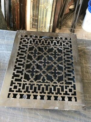 Tc 61 Antique Cleaned In Lacquered Cast-Iron Heating Grate 12 X 14