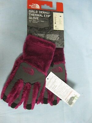 THE NORTH FACE Girls Denali Thermal Etip Glove Roxbury Pink - Medium