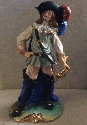 Signed Cucci Porcelain Figurine Of Aramis From The Three Musketeers