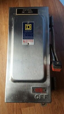 Square D H361NDS 304 Stainless Fusible Disconnect Safety Switch FRS-R-15 Fuses