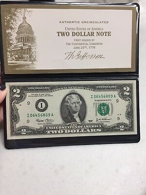 Monetary Exchange Series 2003  $2  Uncirculated Federal Reserve Note