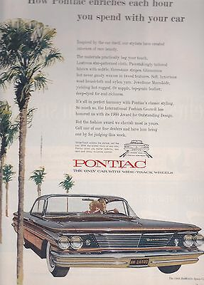 1960 Pontiac Bonneville Sport Coupe   Magazine Ad / Advertisement